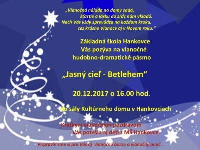 Pozvánka na vianočný program